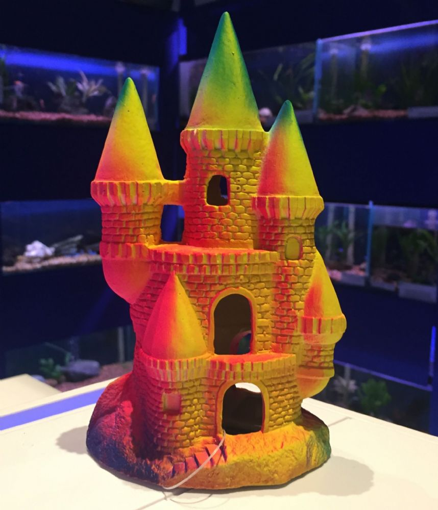 Fluorescent Castle Aquarium Ornament